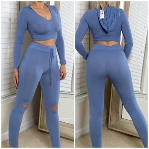 Fashion nova two piece leggings and top